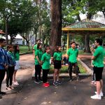 Hoạt động cuối tuần dành cho TEAM TELESALE của dược phẩm Hebipha tại công viên tao đàn TP.HCM